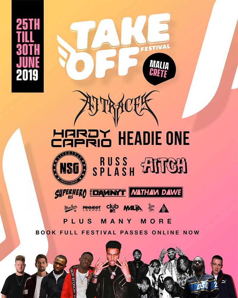 Take Off Festival 2019 in Crete poster