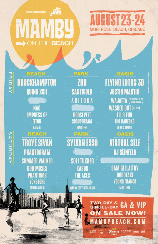 Mamby On The Beach 2019 poster Chicago