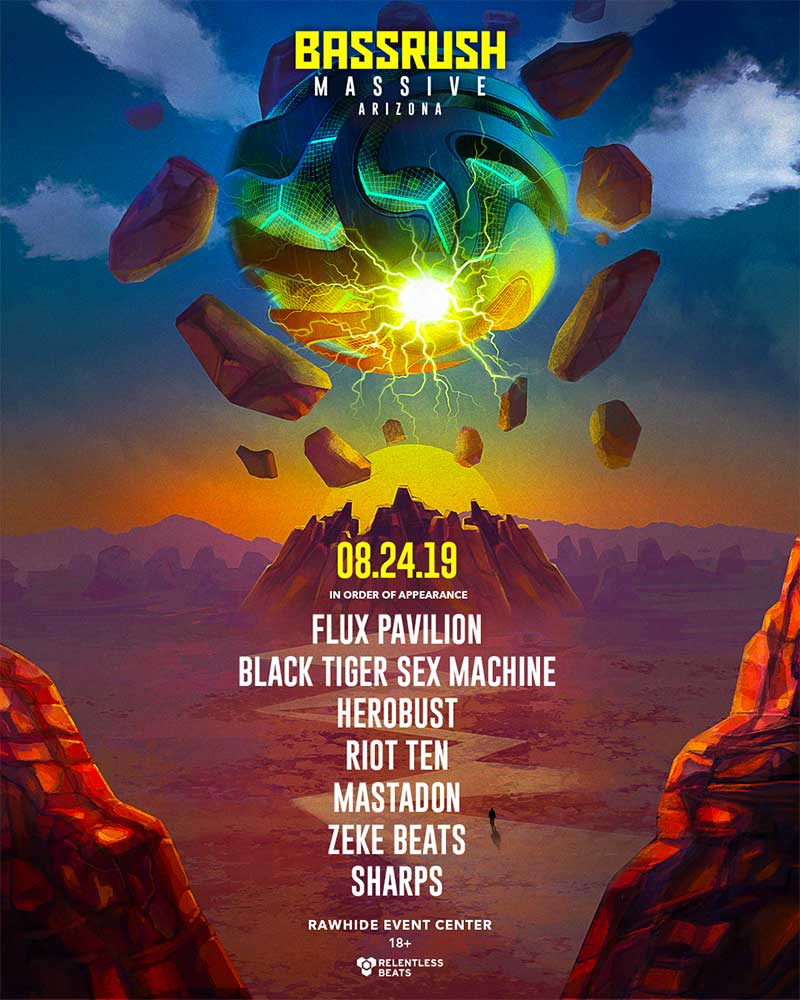 Bassrush Massive Arizona 2019 poster