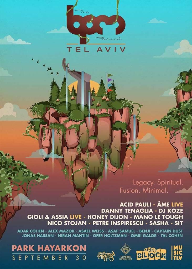 BPM Festival Tel Aviv 2019 poster