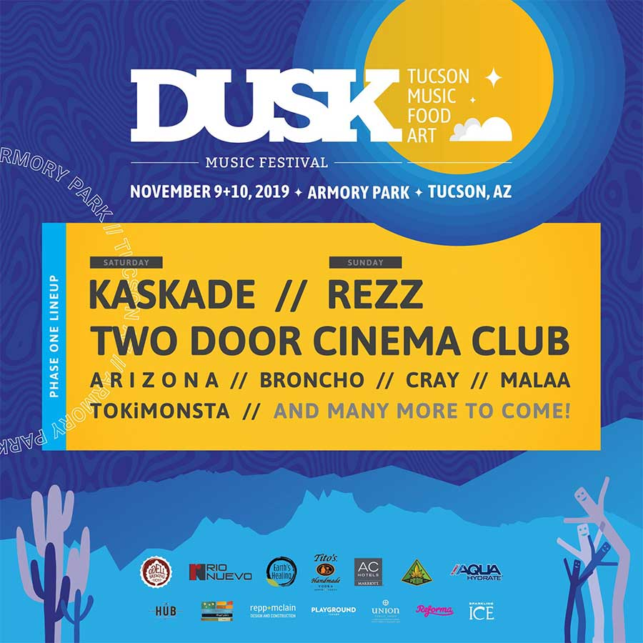 Dusk Music Festival 2019 first acts poster