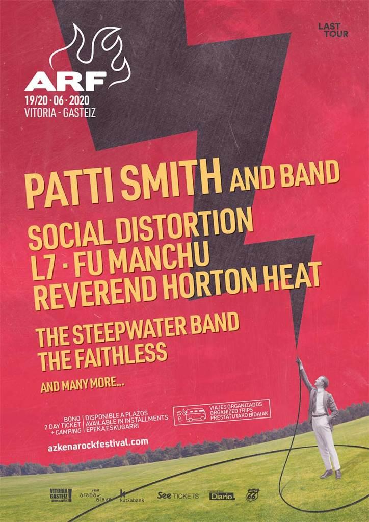 Azkena Rock Festival 2020 Patti Smith poster