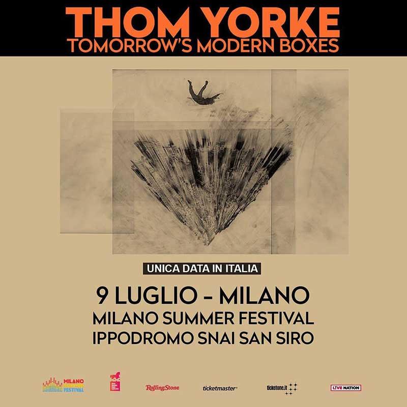 Thom Yorke Milano Summer Festival 2020 poster