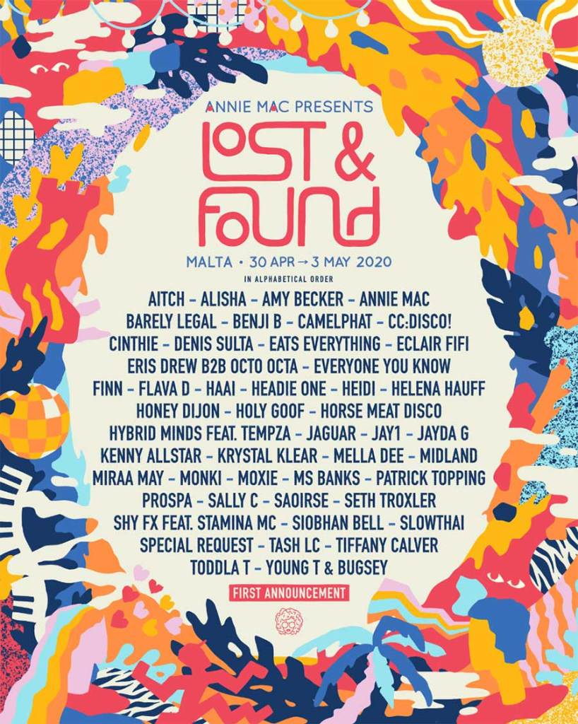 Lost and Found Festiival 2020 first announcement poster