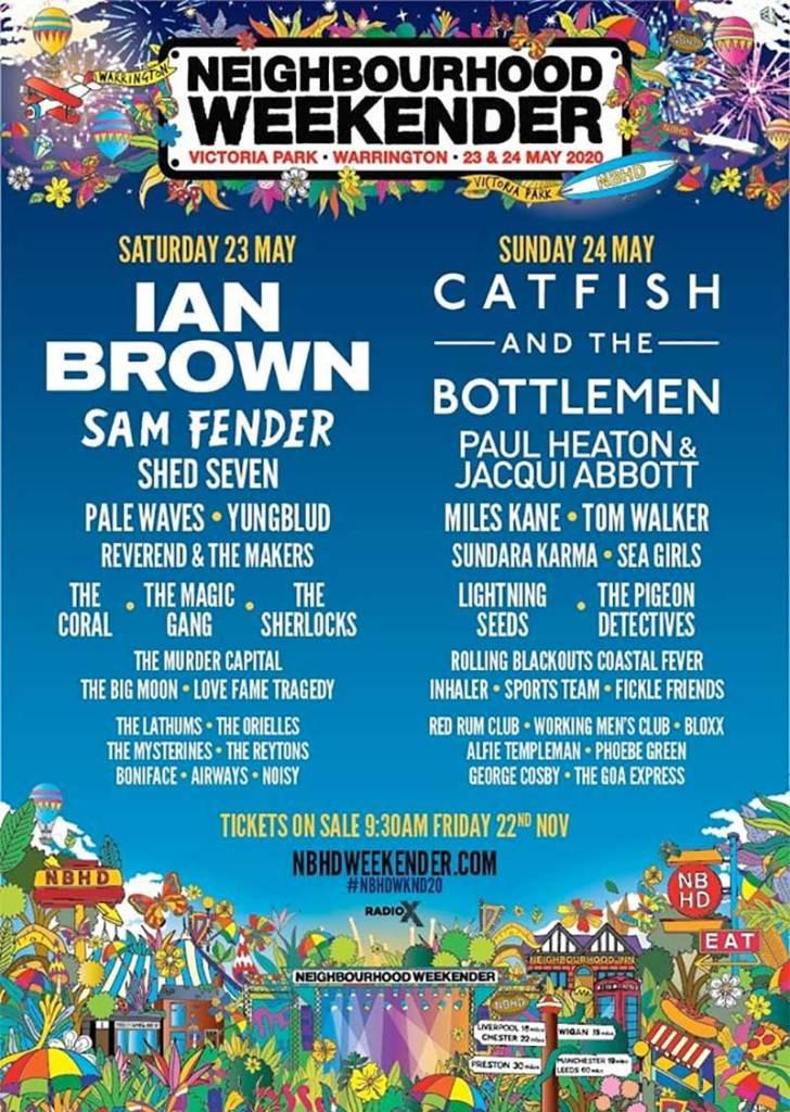 Neighbourhood Weekender 2020 UK poster