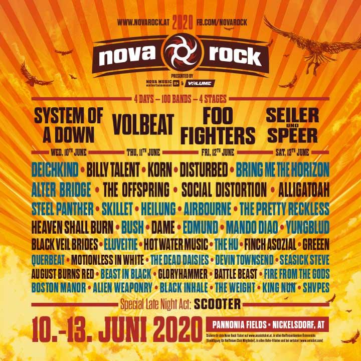 Nova Rock Festival phase 2 poster