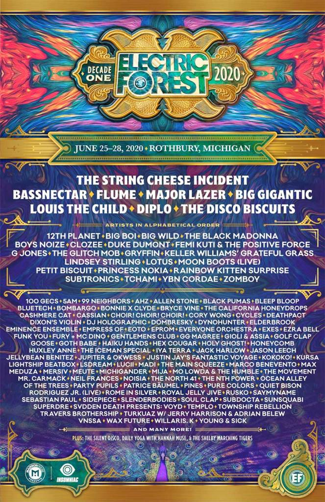 Electric Forest 2020 poster