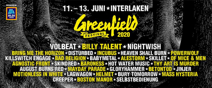Greenfield Festival 2020 latest poster
