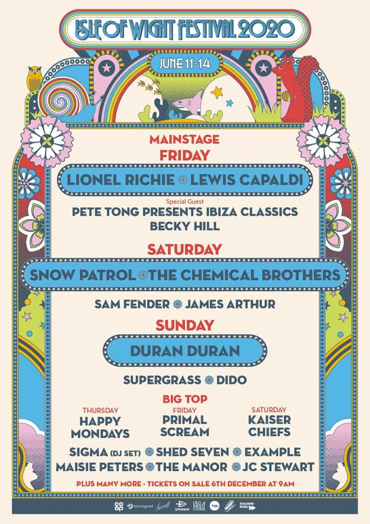 Isle of Wight Festival 2020 first acts poster