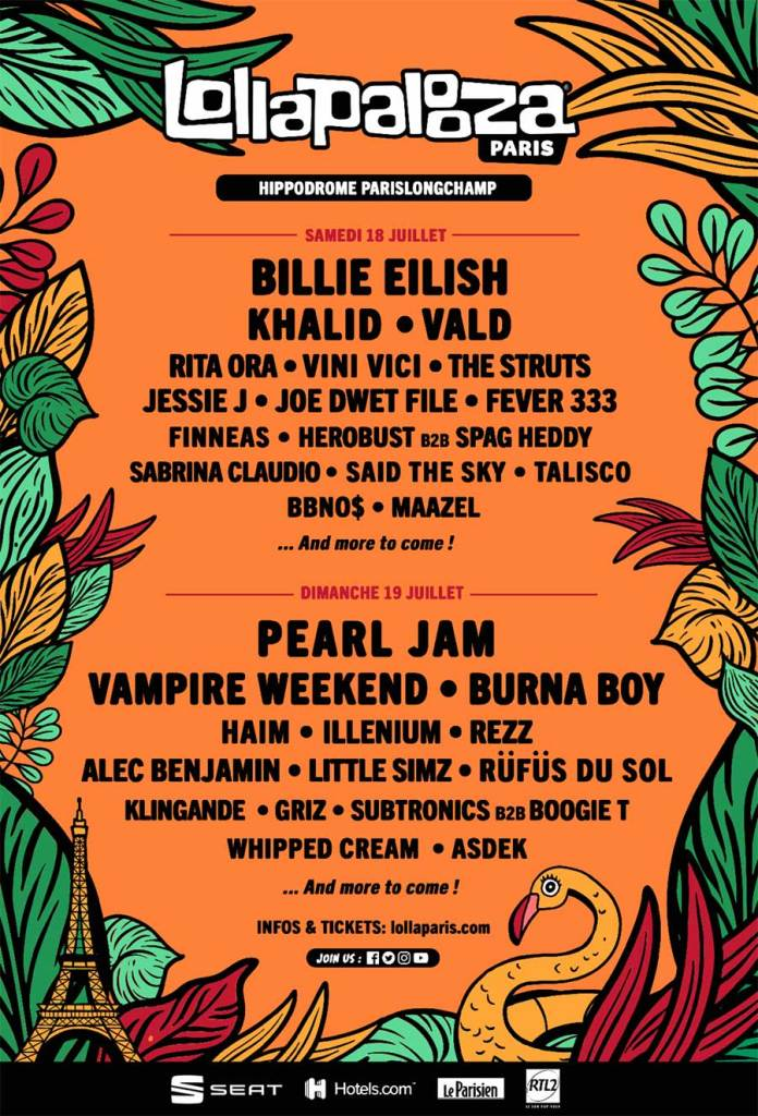 Lollapalooza Paris 2020 first poster