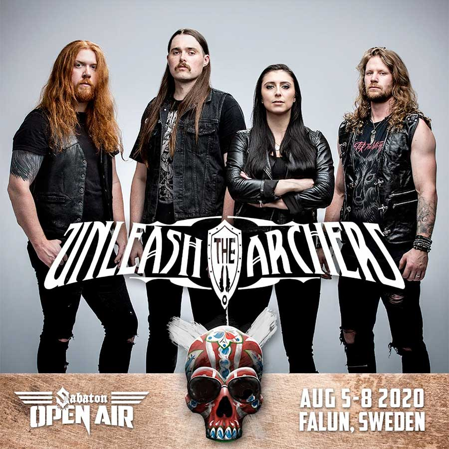 Unleash The Archers play Sabaton Open Air 2020 poster