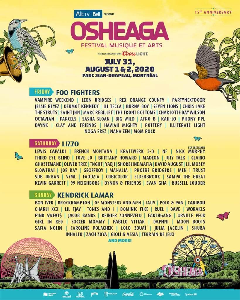 Osheaga Festival 2020 poster