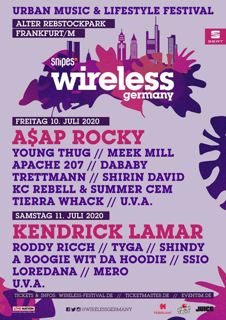 Wireless Festival Germany 2020 first poster