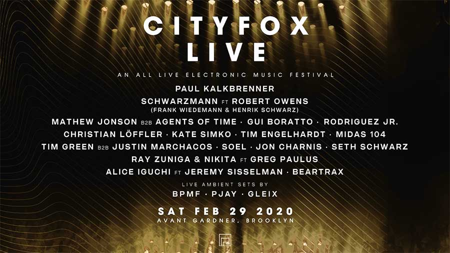 City Fox Live Festival New York 2020 poster