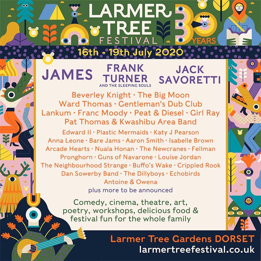 Larmer Tree Festival 2020 poster