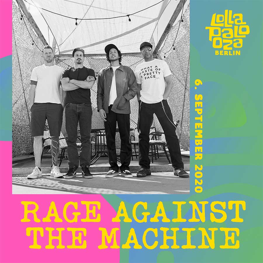 Rage Against the Machine Lollapalooza Germany 2020 poster