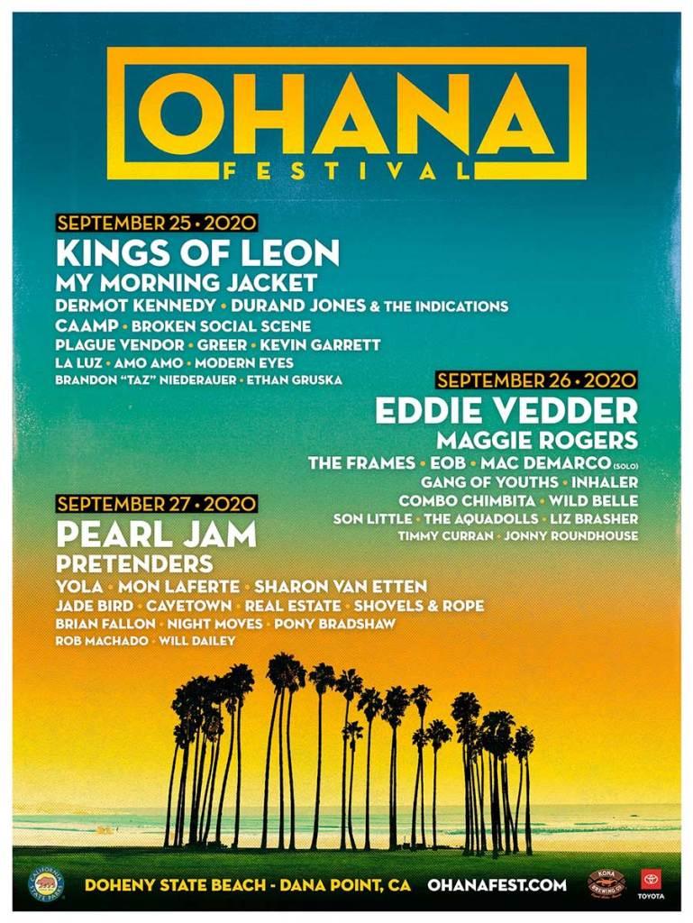 Ohana Festival 2020 poster