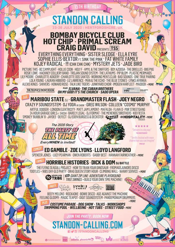 Standon Calling Bombay Bicycle Club 2020 poster