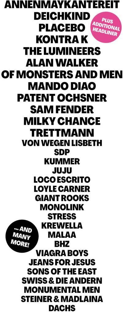 Open Air St Gallen 2021 first poster