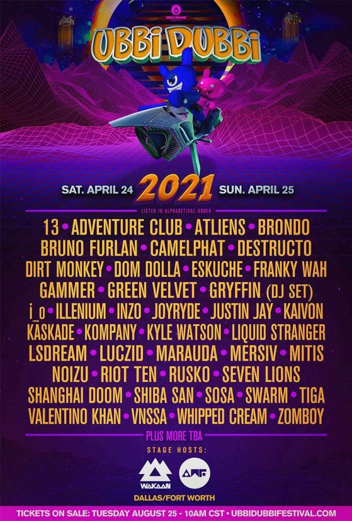 Ubbi Dubbi Festival 2021 poster