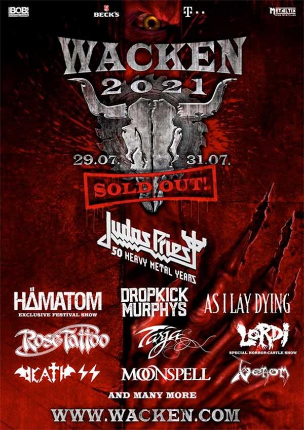 Wacken 2021 first bands poster