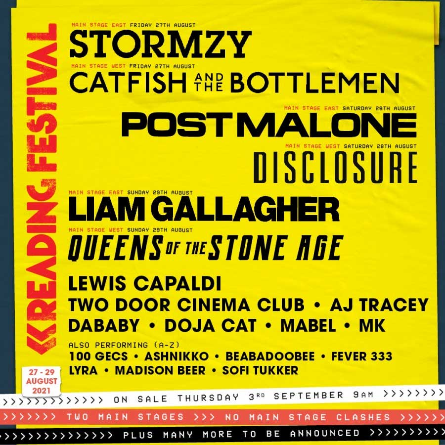Reading Festival 2021 first acts poster