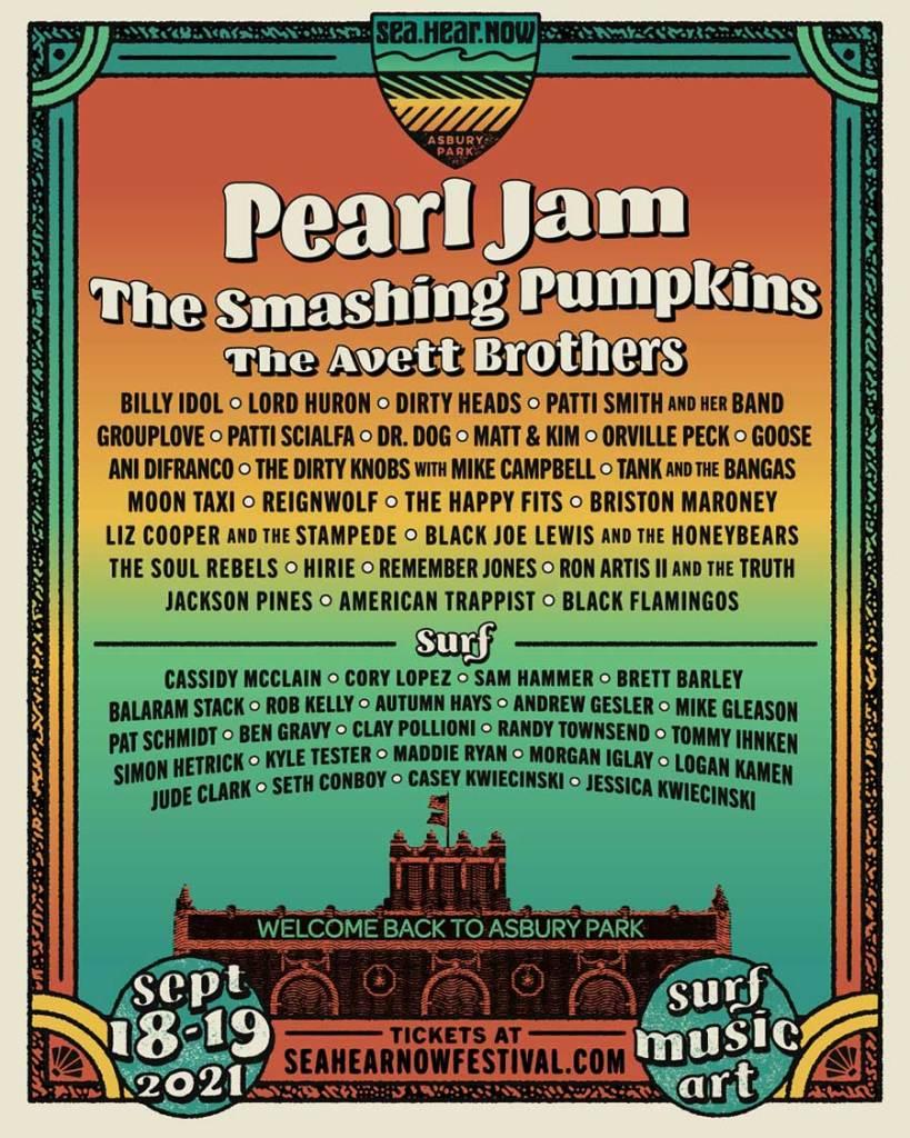 Sea Hear Now Festival 2021 poster Smashing Pumpkins