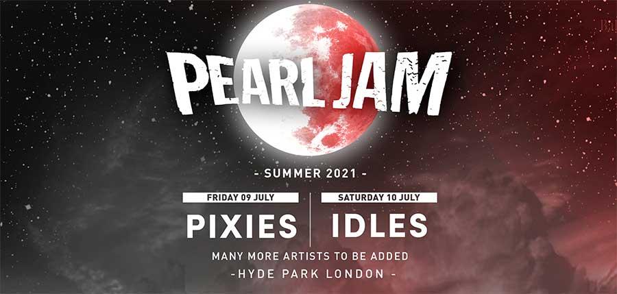 Pearl Jam BST Hyde Park 2021 poster