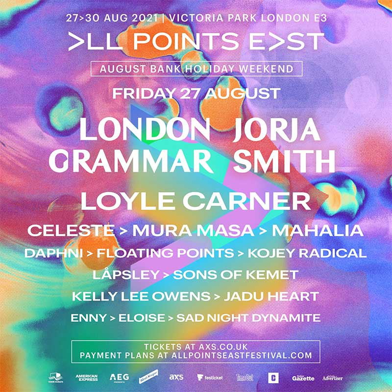 All Points East Friday line up 2021