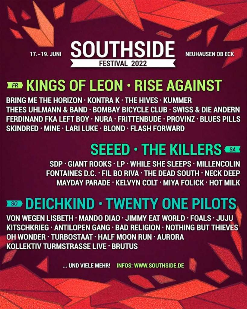 Southside Festival 2022 poster