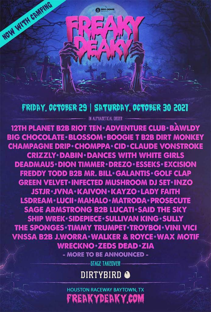 Freaky Deaky Festival Houston 2021 poster