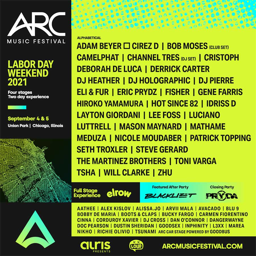 ARC Festival 2021 Chicago line up additions poster