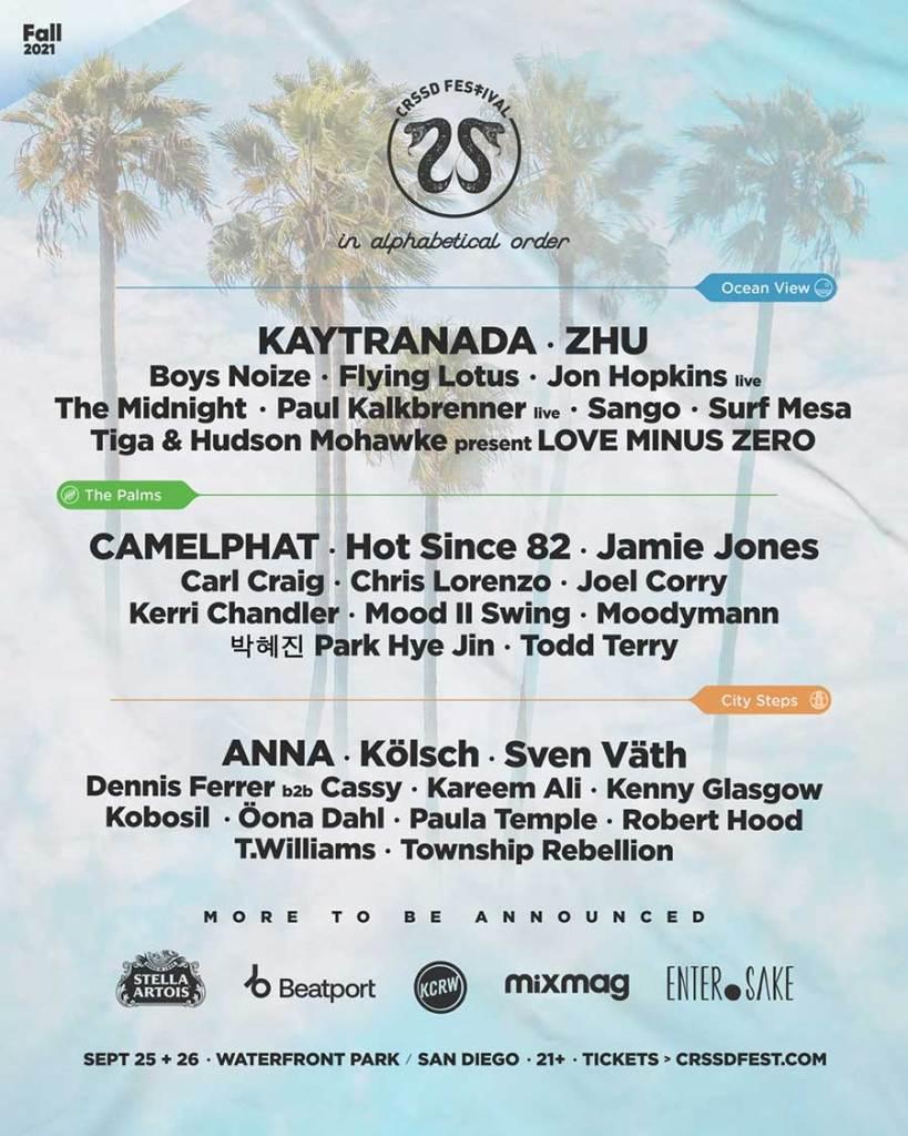 Crssd Festival 2021 phase 1 poster
