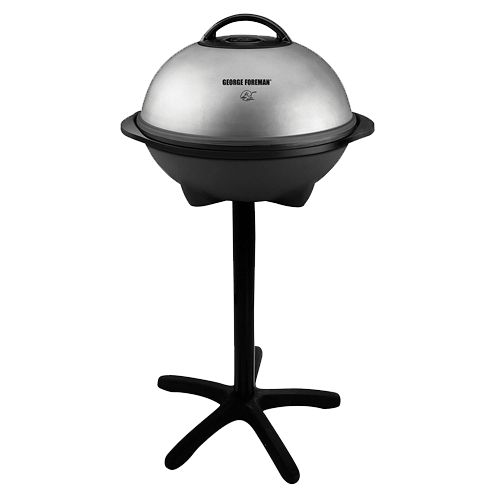 George Foreman 15 Serving Indoor Outdoor Electric Grill, Silver, GGR50B