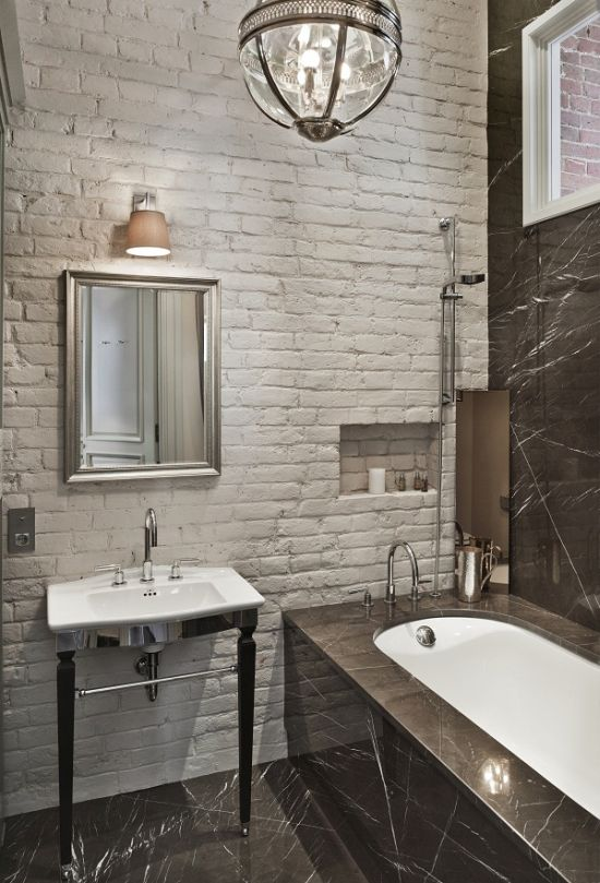 33 Bathroom Designs With Brick Wall Tiles  Ultimate Home