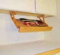 Under Cabinet Mounted Knife Rack