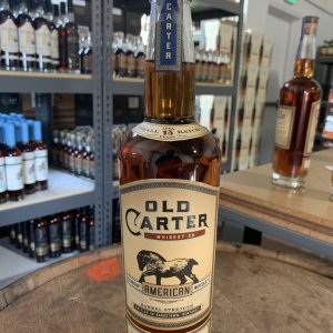 Old Carter 12 Year American Whiskey Batch 2, 1579 bottles produced, barrel strength 139.2 proof; Released in October 2019, Kentucky
