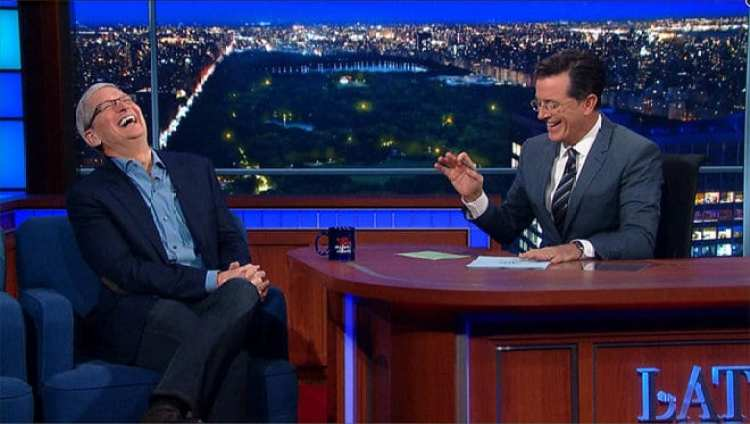 Tim Cook Late Show