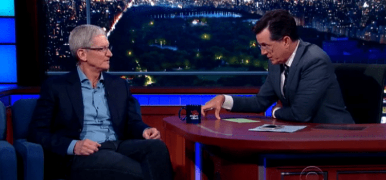 Tim Cook on The Late Show – The Highlights