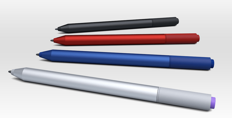 Surface Pen color themes. Photo: Microsoft