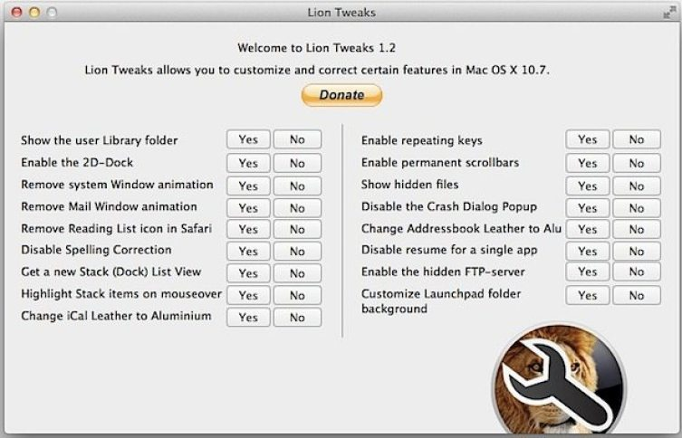 lion-tweaks