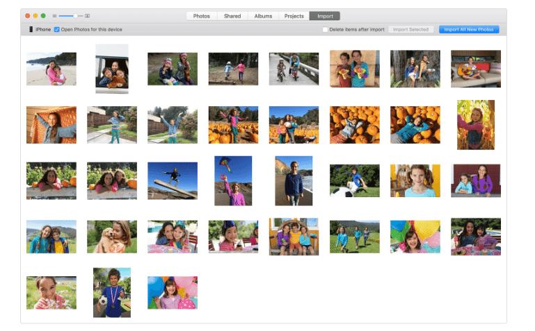 transfer photos - photos app