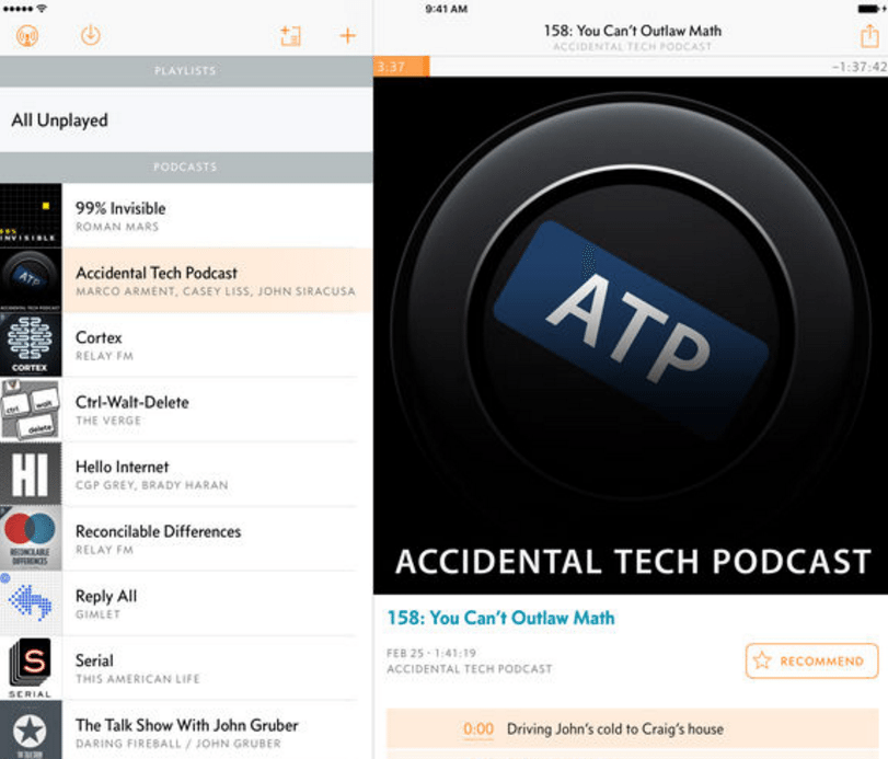 podcast apps - overcast