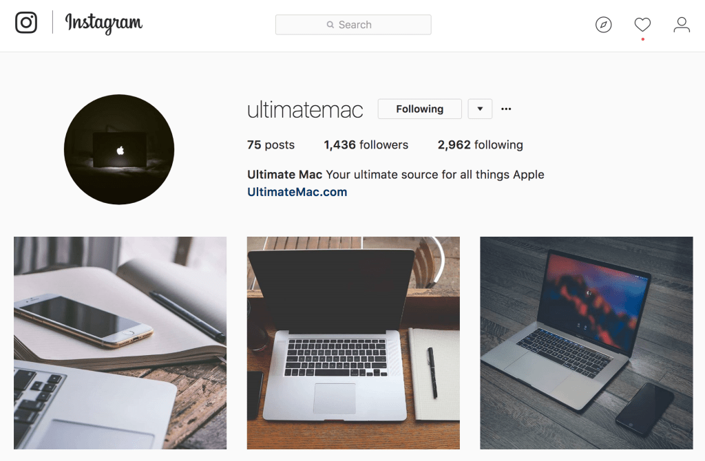 Ampfluence Instagram Growth Results for UltimateMac