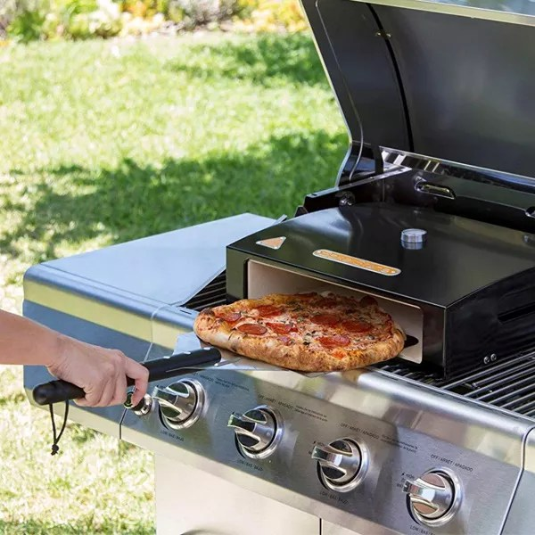 Pizzas Cooked On BBQ