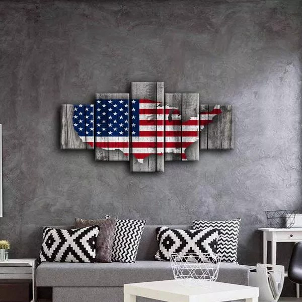 Wooden Flag Art