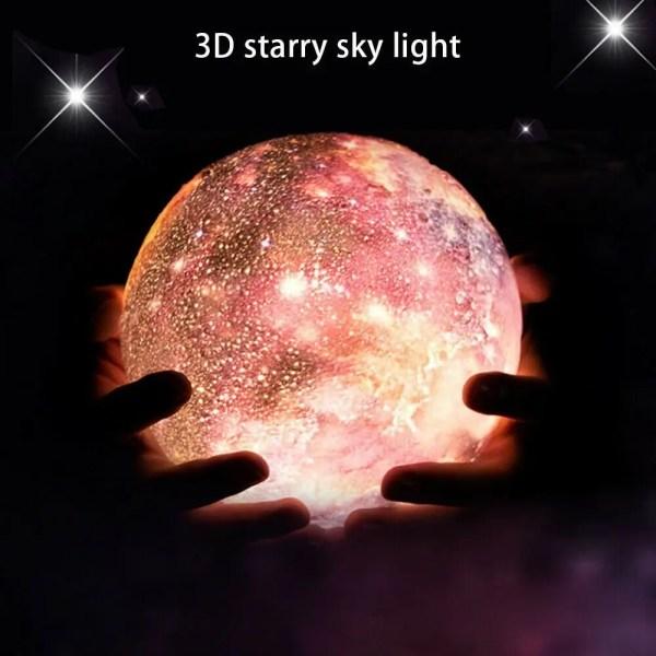 16 Color 3D Galaxy Star Kids LED Luna Lamp 18CM AU  Ultimate Moon Lamps