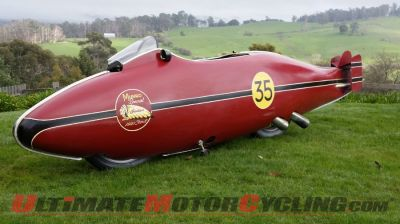 Burt Munro's record-breaking replica of the world's fastest Indian