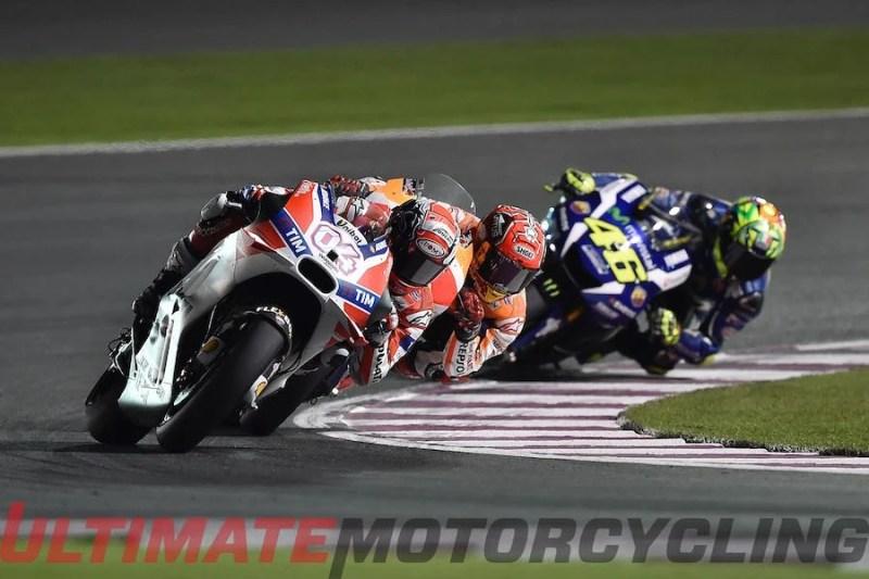 Image result for Dovizioso wins 2018 MotoGP Grand Prix of Qatar