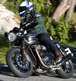 2019 triumph speed twin review cornering motorcycle [ 1623 x 1080 Pixel ]